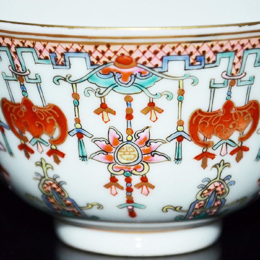 Qing, An Auspicious Emblems Famille-Rose Bowl - 8