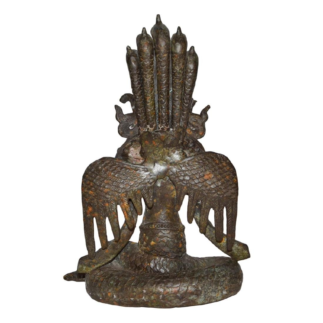 Ming Dynasty, Tibetan Bronze Figure of Suvannamaccha, - 3