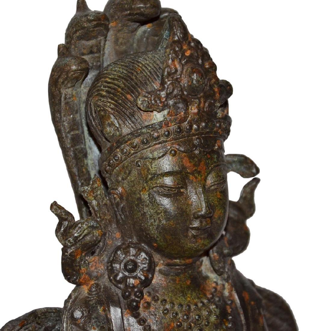 Ming Dynasty, Tibetan Bronze Figure of Suvannamaccha, - 7