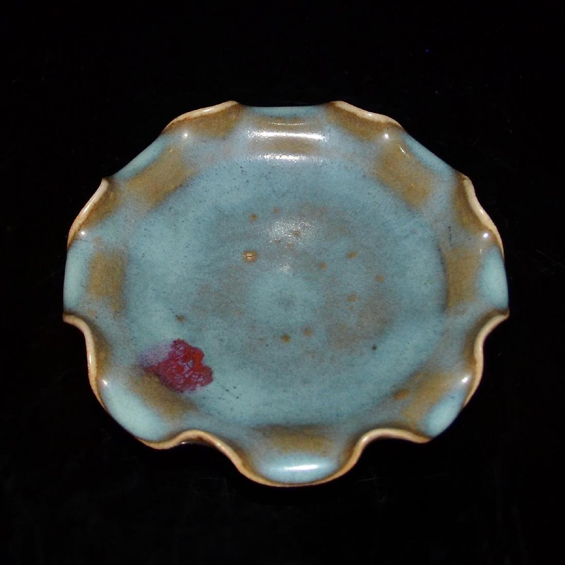 Song Dynasty, Celadon Glazed Junyao Plate with Foliate - 4