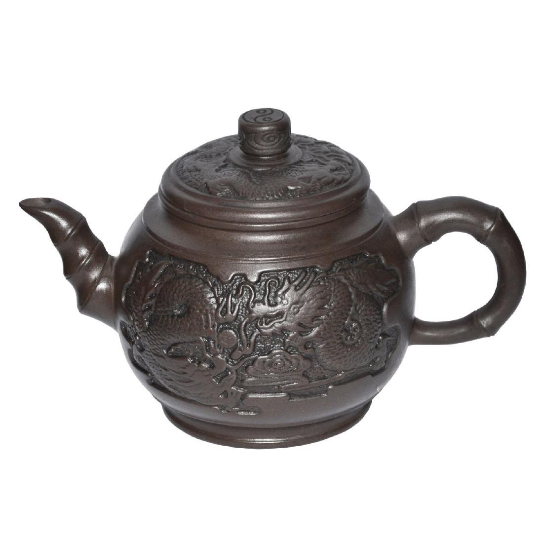 Zhou Guizhen, Zisha Teapot molded with Confronting