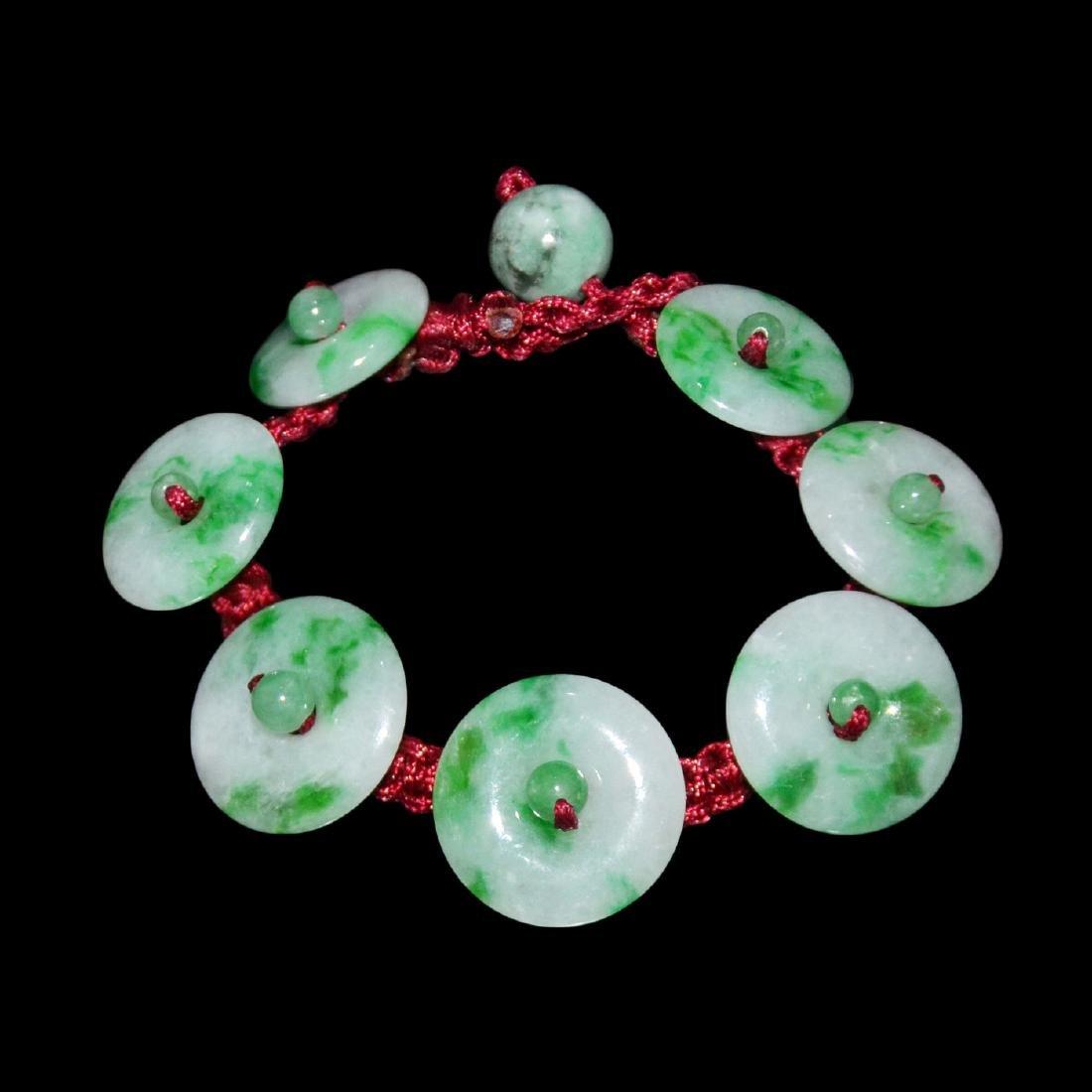 Jadeite Ring Pendant Bracelet