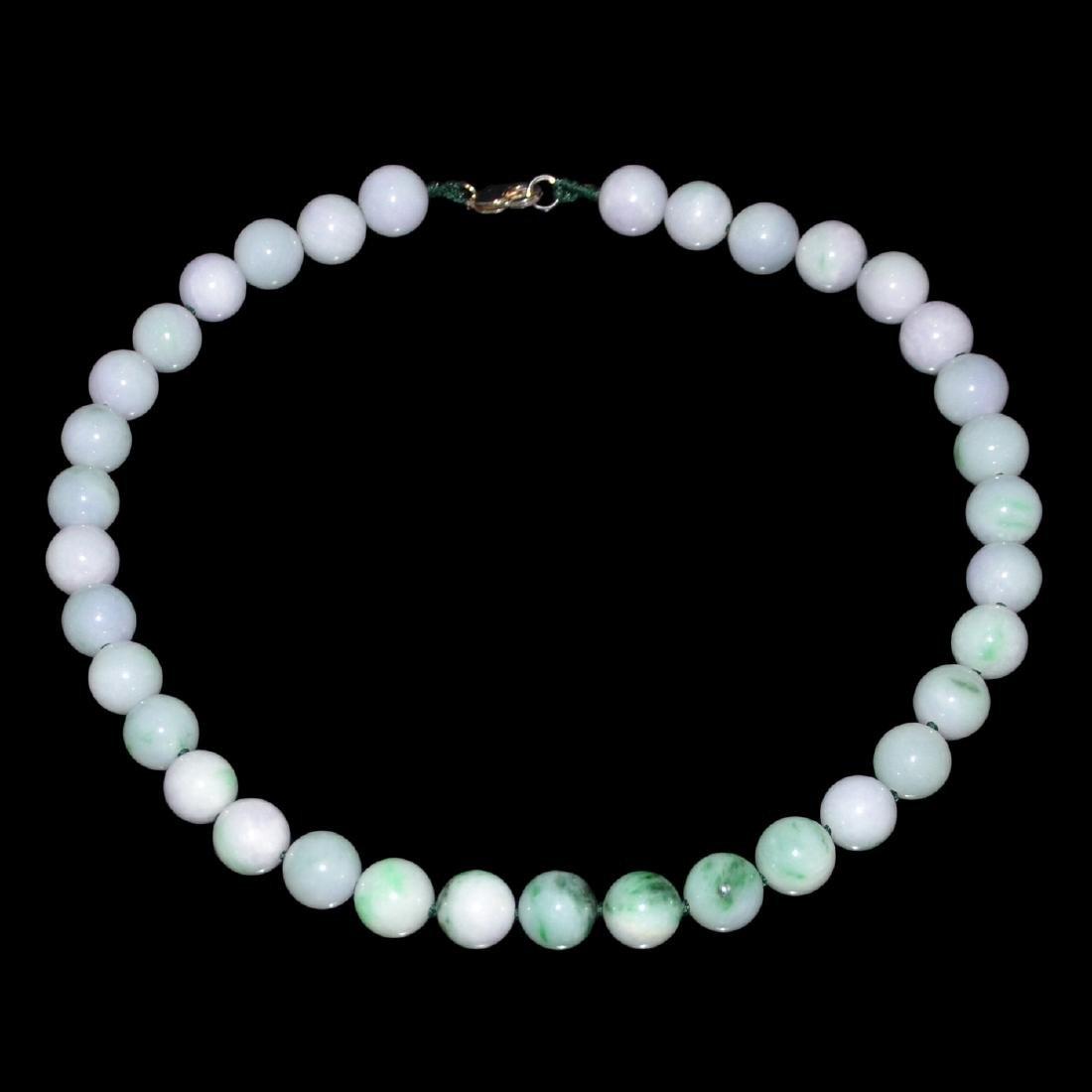 Jadeite Lavender Bead Necklace