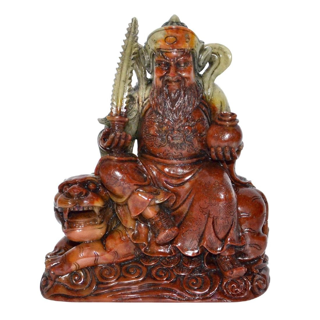 Qing Dynasty, A Finely Carved Shoushan Stone God of