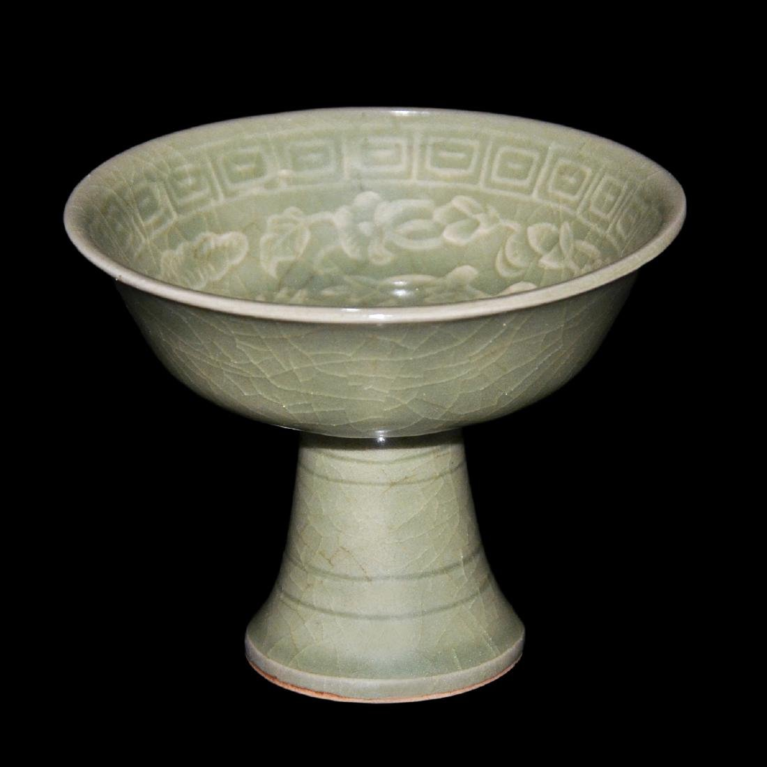 Song Dynasty, Yaozhou Celadon Carved Floral-Phoenix