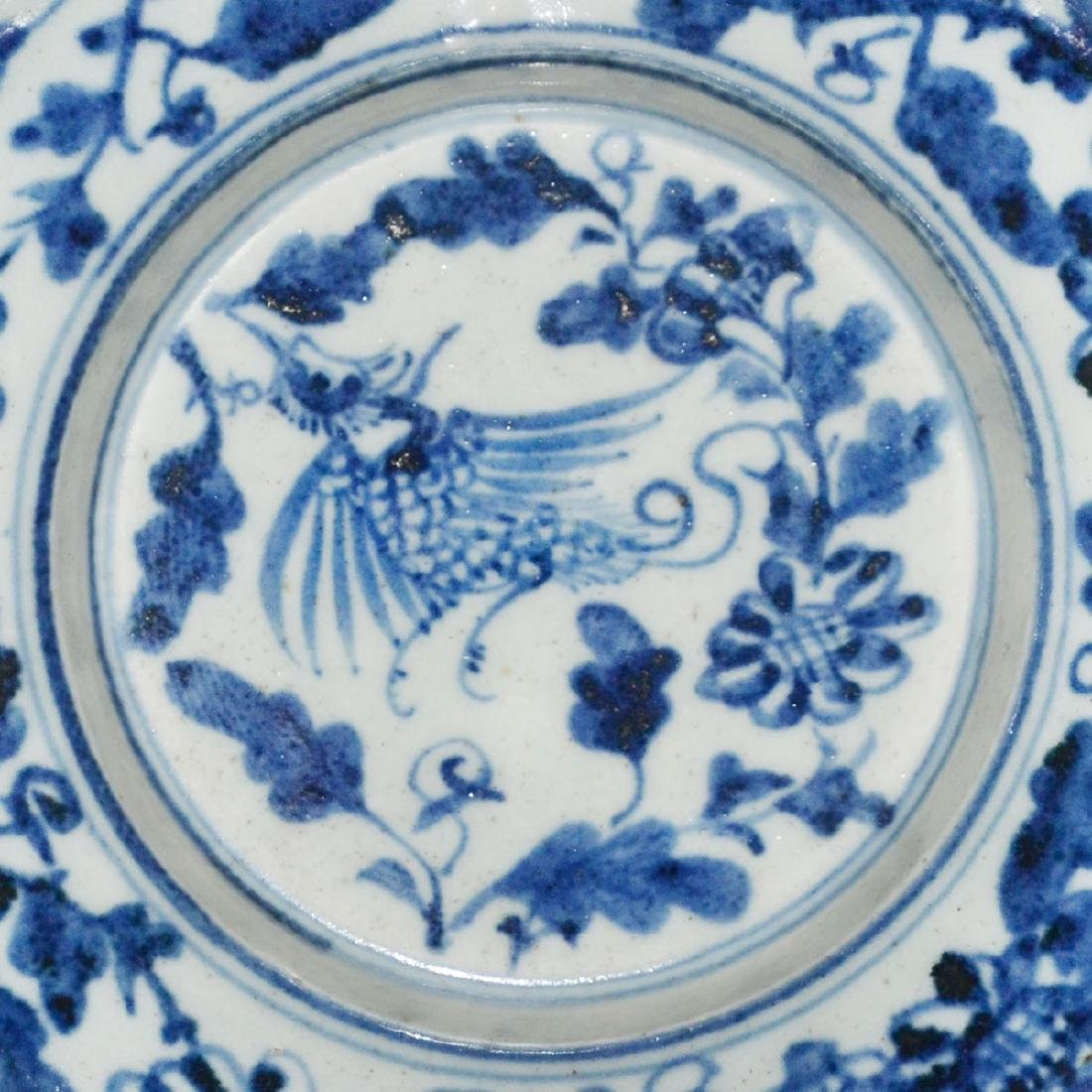 Ming, An Unusual Blue and White Bracket-Lobed Dish - 10