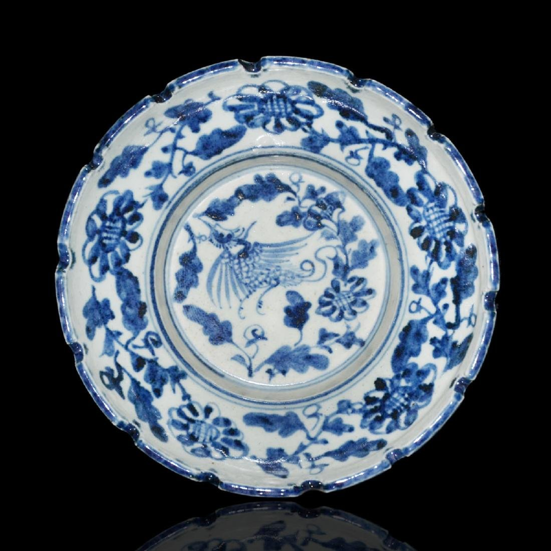 Ming, An Unusual Blue and White Bracket-Lobed Dish - 2