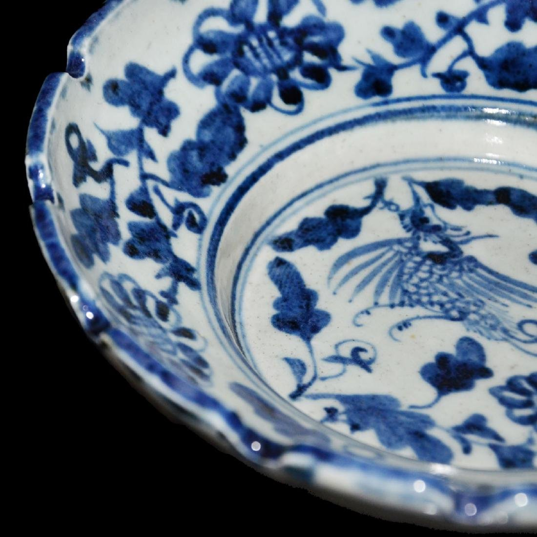 Ming, An Unusual Blue and White Bracket-Lobed Dish - 7