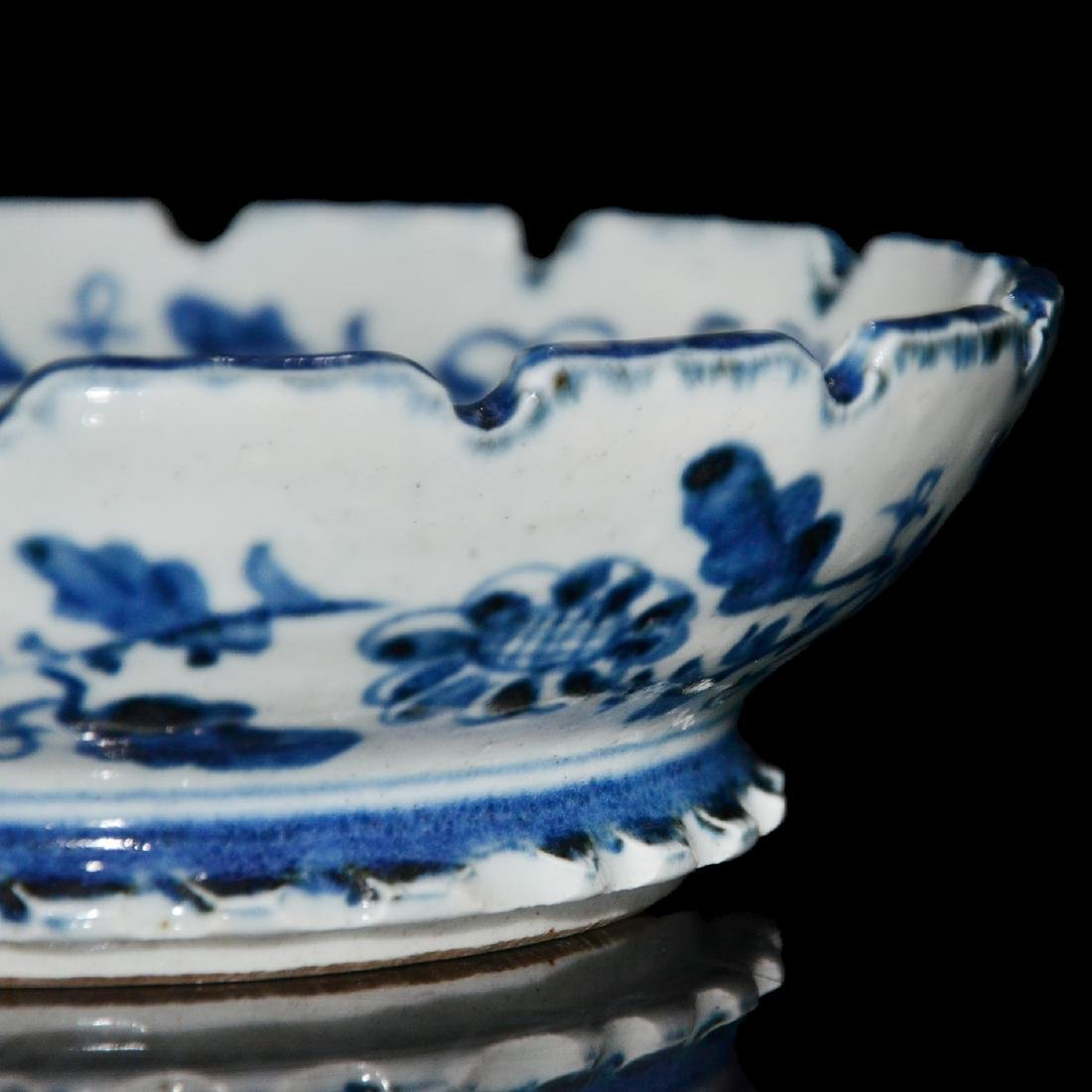 Ming, An Unusual Blue and White Bracket-Lobed Dish - 8
