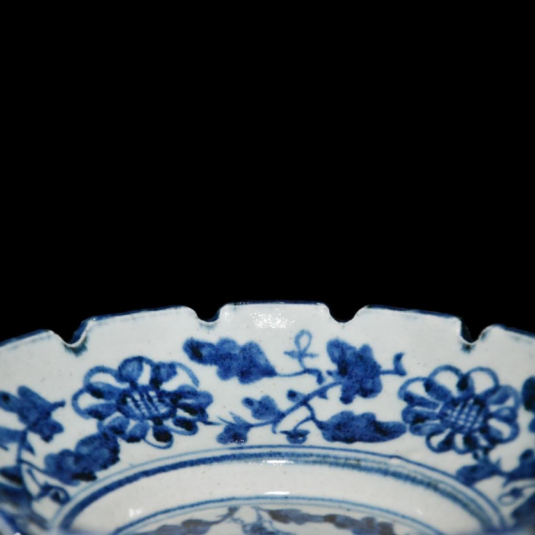 Ming, An Unusual Blue and White Bracket-Lobed Dish - 9