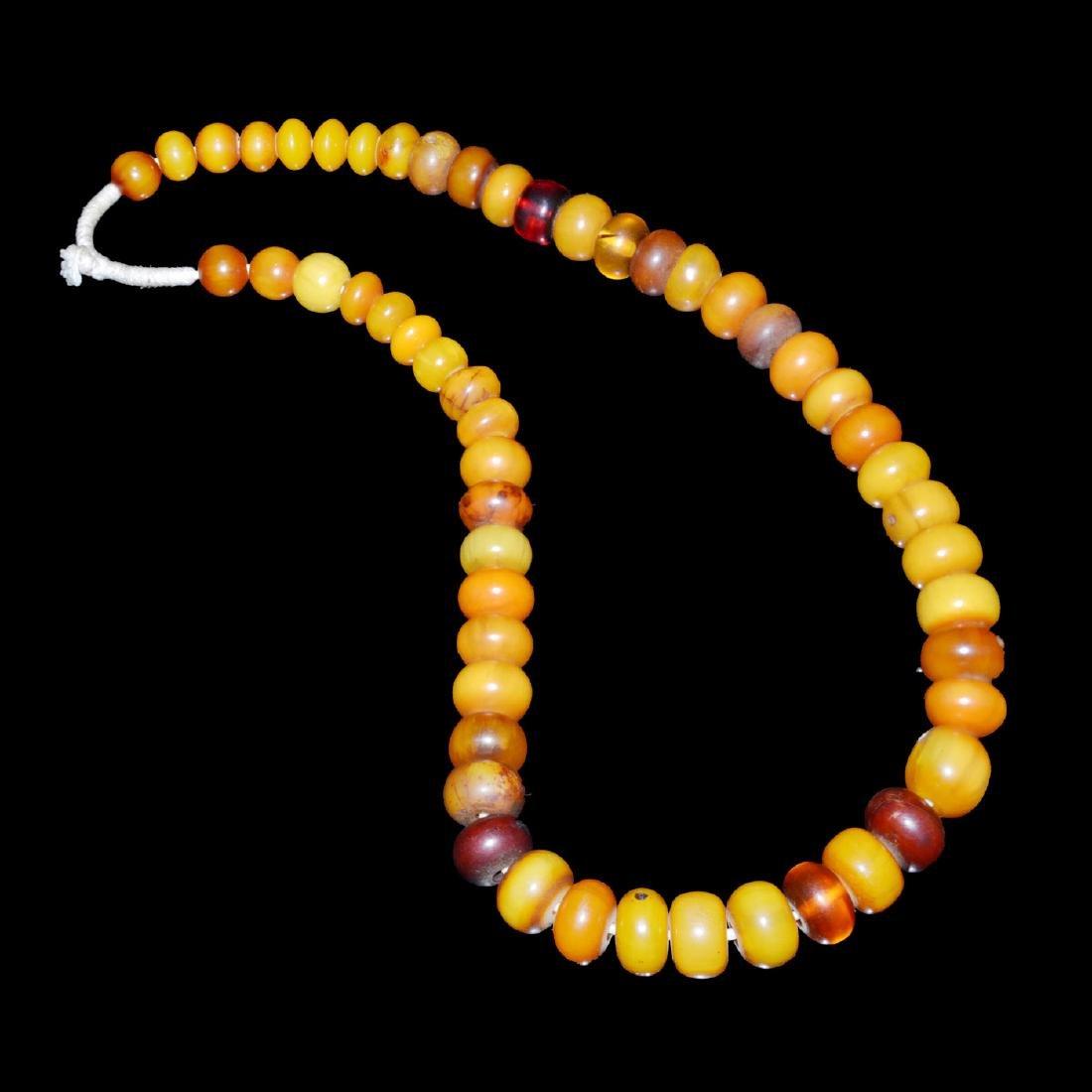 Qing Dynasty, A Fine String of Tibetan Amber Prayer