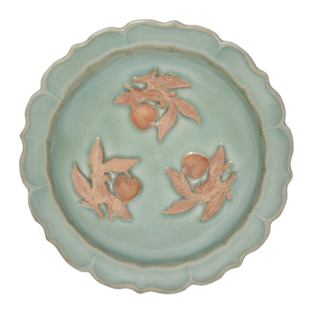 Song Dynasty, A Longquan Celadon Biscuit Plate with