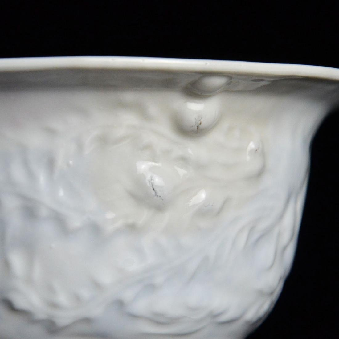 Ming Dynasty, White-Glazed Anhua Inside Decorated - 10