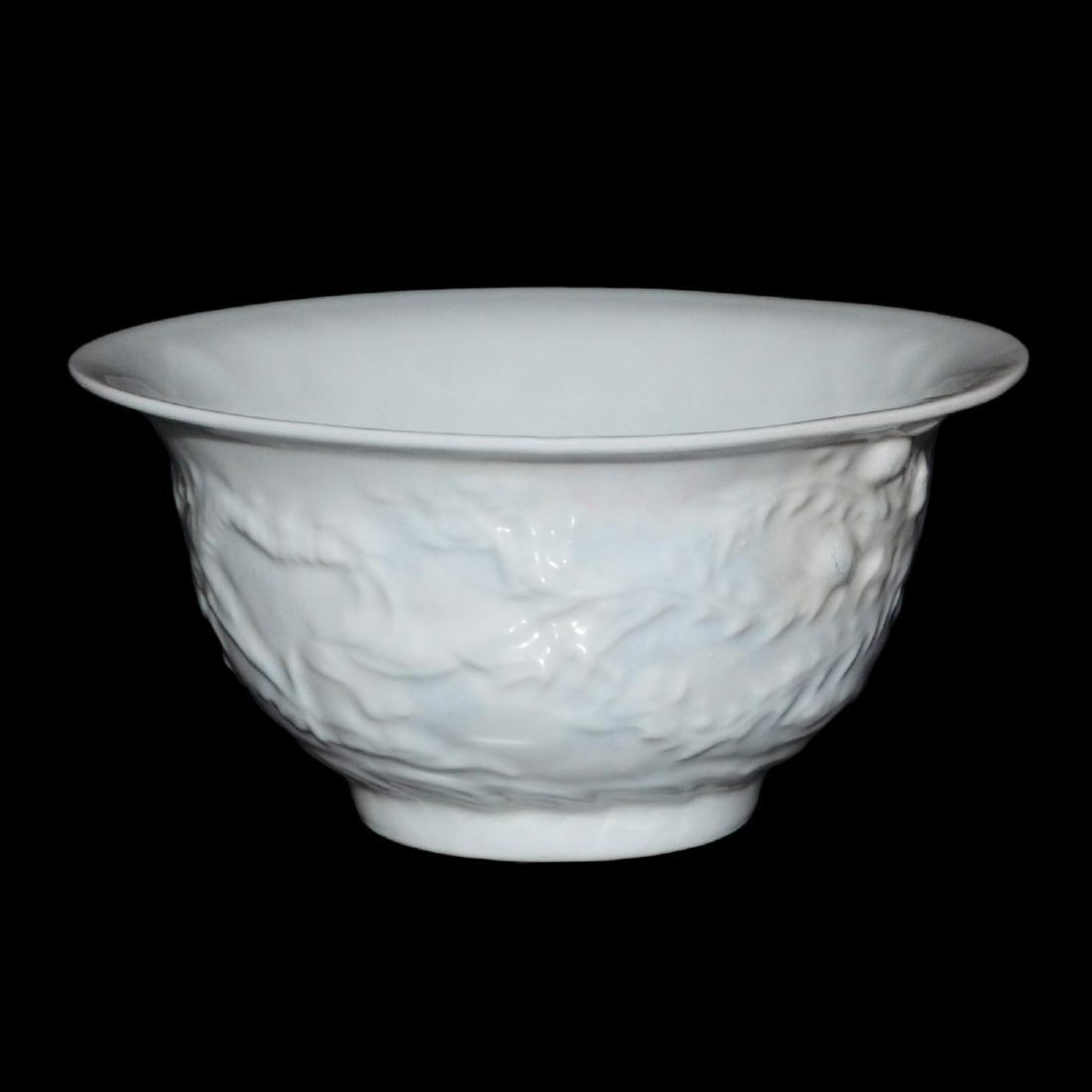 Ming Dynasty, White-Glazed Anhua Inside Decorated - 3