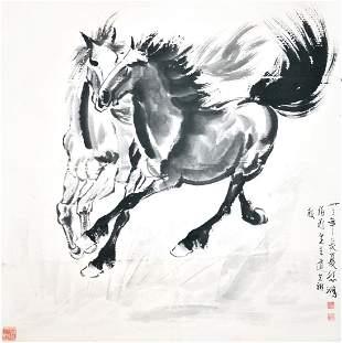 Xu Beihong Two Horses