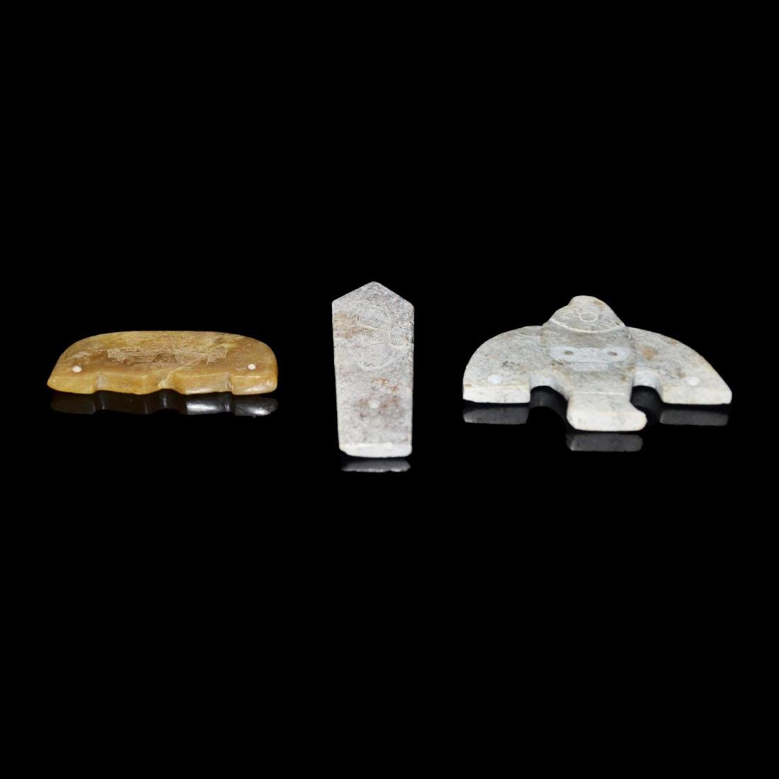 A Group of Three Neolithic Liangzhu Culture Zoomorphic - 4