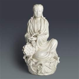 Ming, He Chaozong, A Rare Blanc-de-Chine Figure of