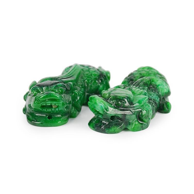 A Pair of Well Carved Kirim Jadeite Pendant