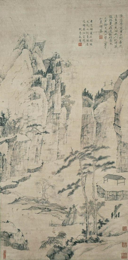 Hong Ren (Jianjiang Xueren)(Qing Dynasty) Spring