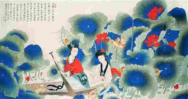 Zhang Daqian Reminiscing Lotus Harvest