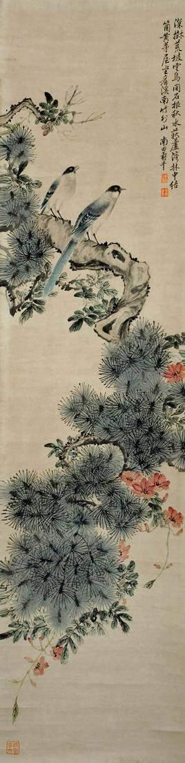 Yun Shouping Qing Dynasty Two Singing Birds