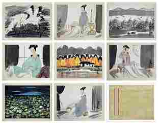 Lin Fengmian (1900 - 1991) Various subjects including