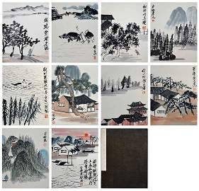 Qi Baishi (1864 - 1957) Figures and Landscape