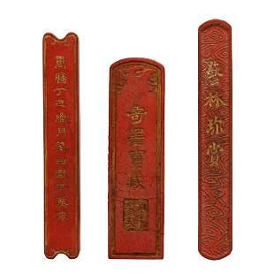 Ming Dynasty, Wanli, A  very Rare Set of Three Huizhou