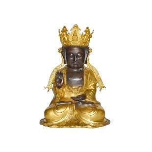 Ming, A Gilt Bronze Figure of Guanyin