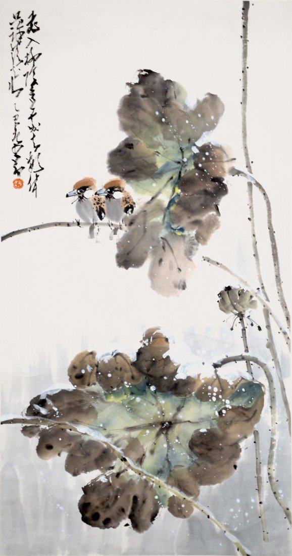 16: Zhao Shaoang Birds on Lotus