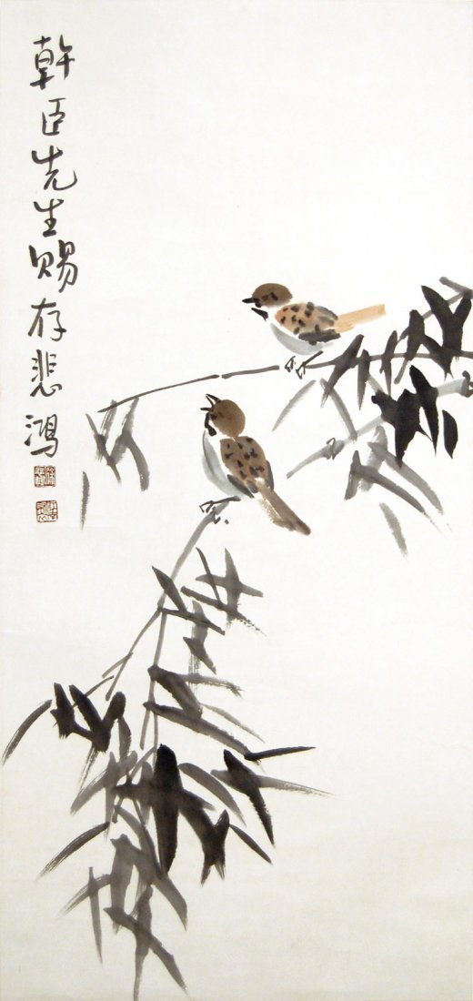 10: Xu Beihong  Birds and Bamboo