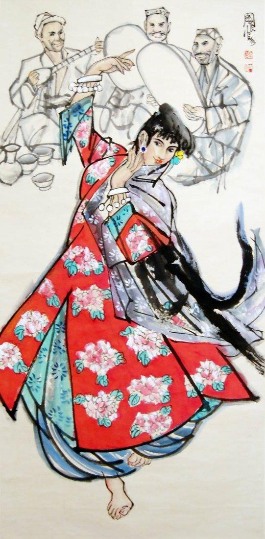 20: Shi Guoliang  Uighur Dancer