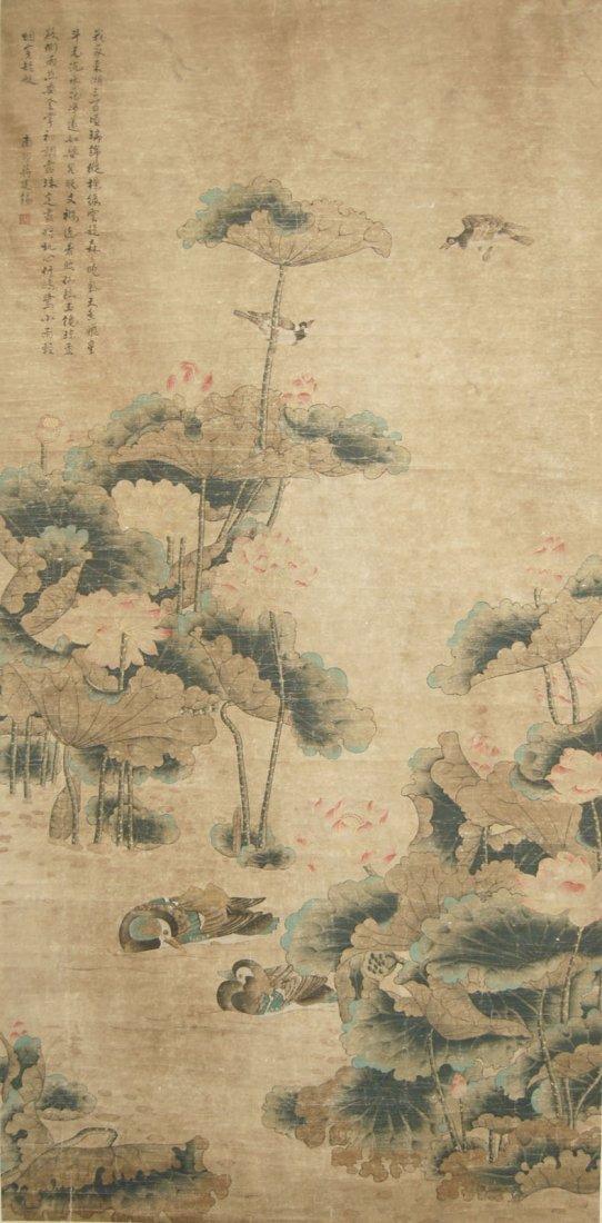 24: Jiang Tingxi Qing Dynasty  Mandarin Duck in Lotus P