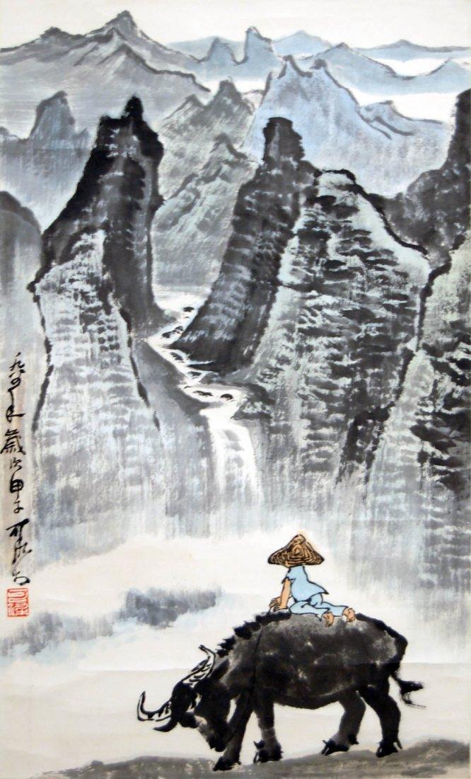 30: Li Keran  Admiring Mountain Scene