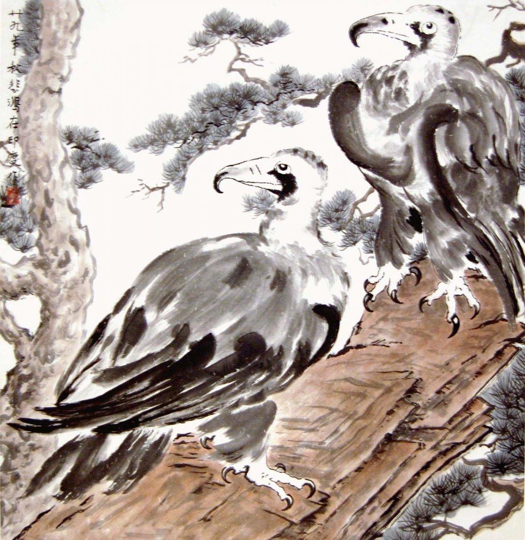 33: Xu Beihong  Two Eagles