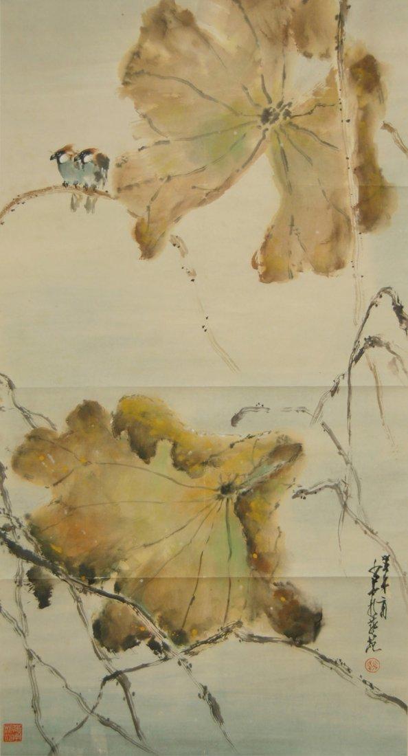 34: Zhao Shaoang  Birds on Lotus
