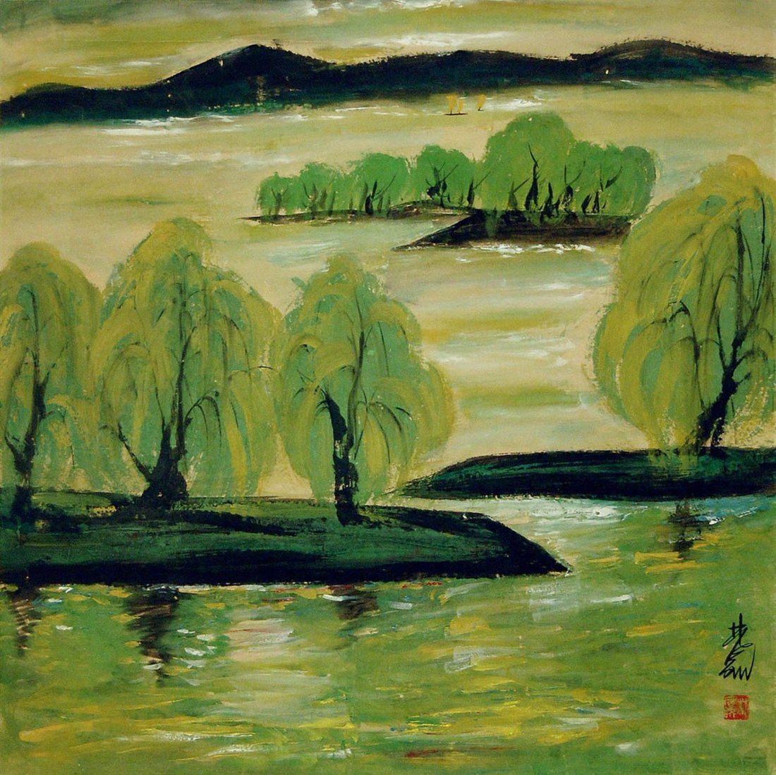 16: Lin Fengmian - Spring Time
