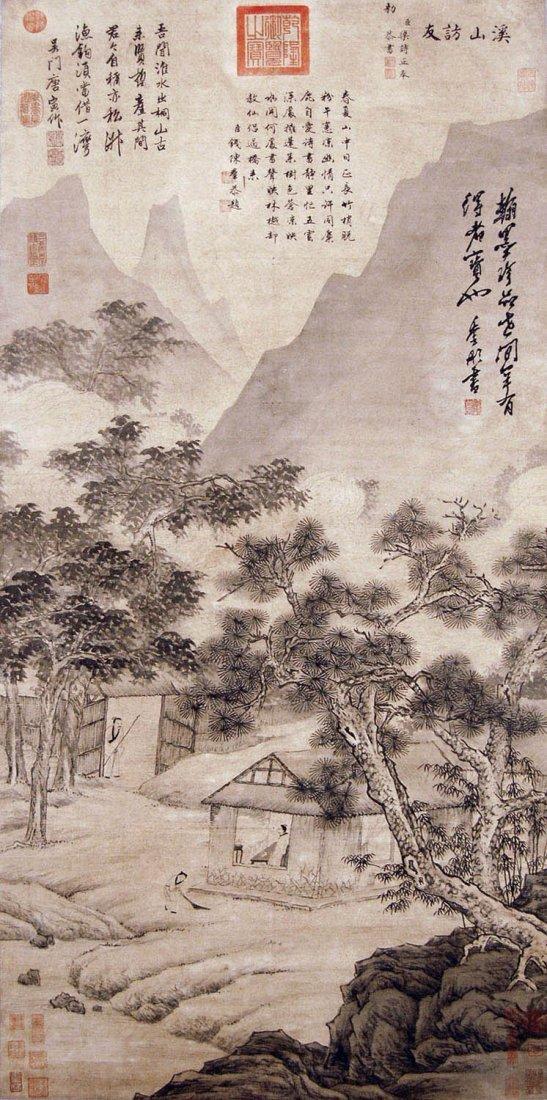 23: Tang Yin - Ming Dynasty - Visiting Friends