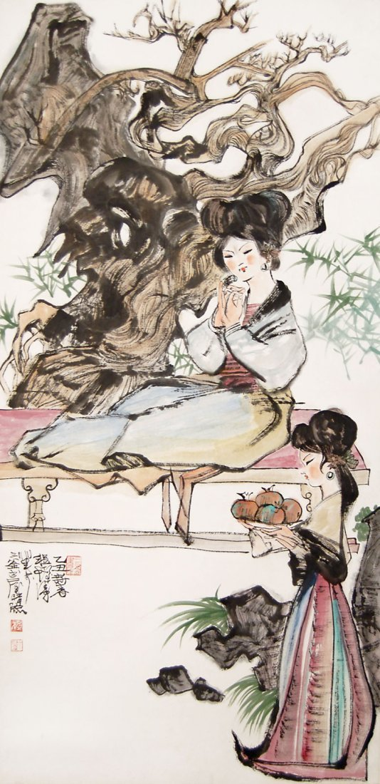 Cheng Shifa Portrait of Young Ladies at Home