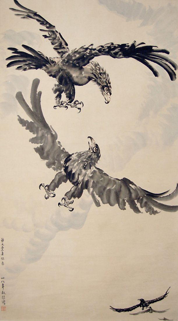 Xu Beihong Hawks in Flight