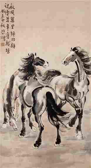 Xu Beihong The Three Spirited Horses
