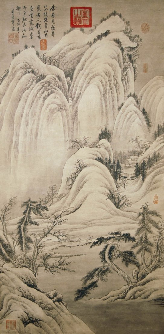 Dong Qichang  Ming Dynasty   Snow Mountains