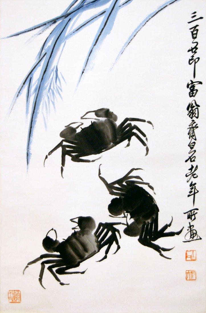 Qi Baishi  Crabs and Weed