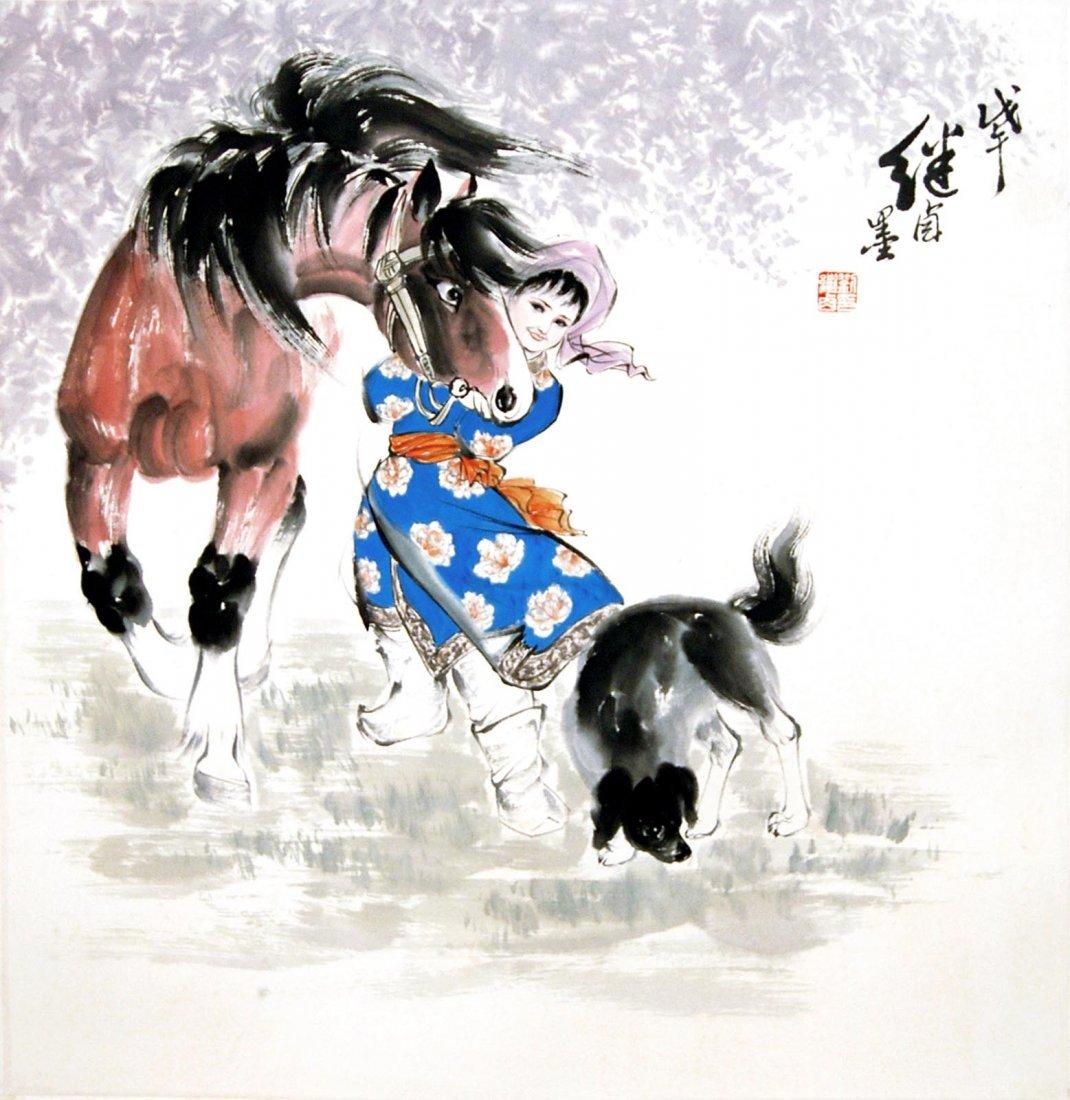 Liu Jiyou  Maiden Tethering Horse