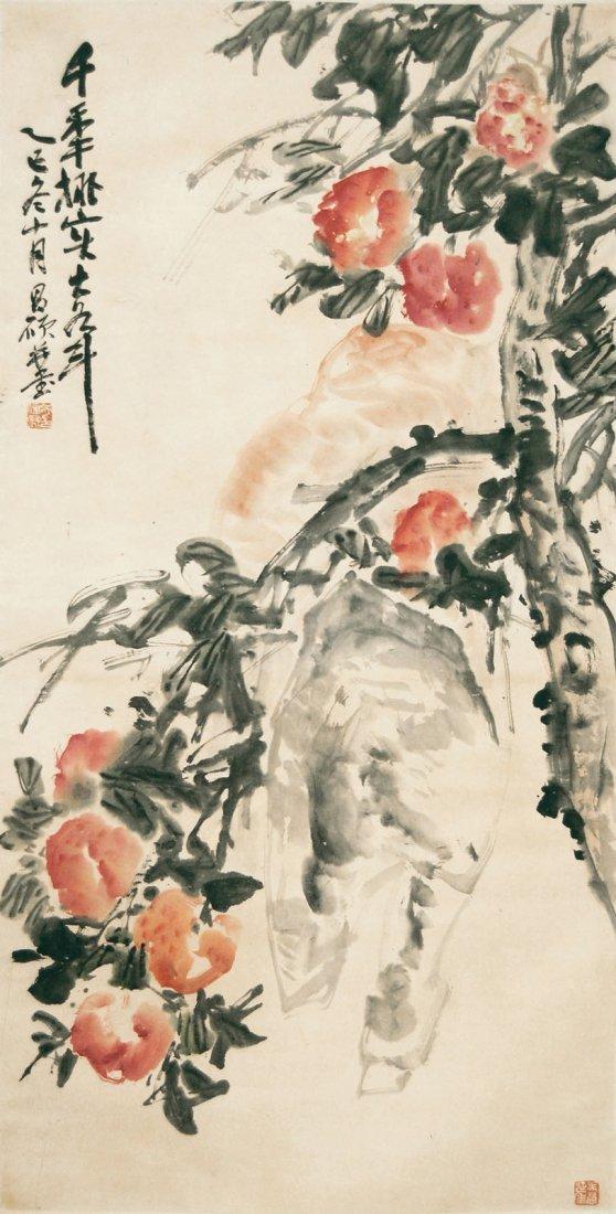 Wu Changshuo  Peaches