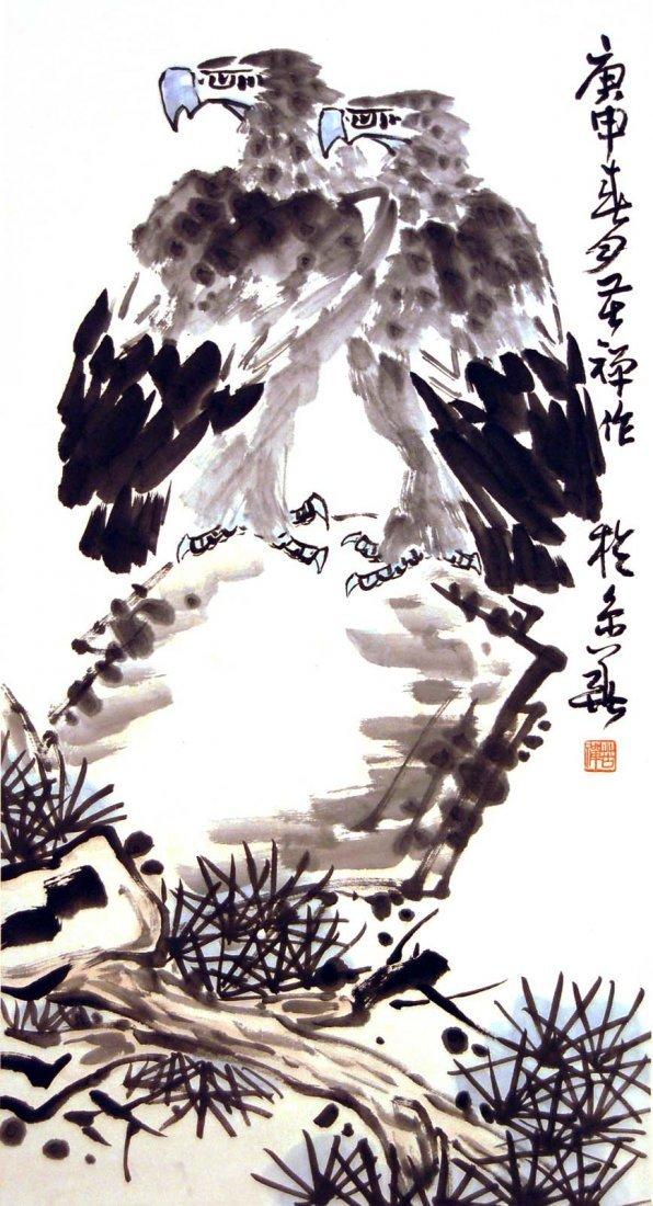 Li Kuchan  Two Hawks