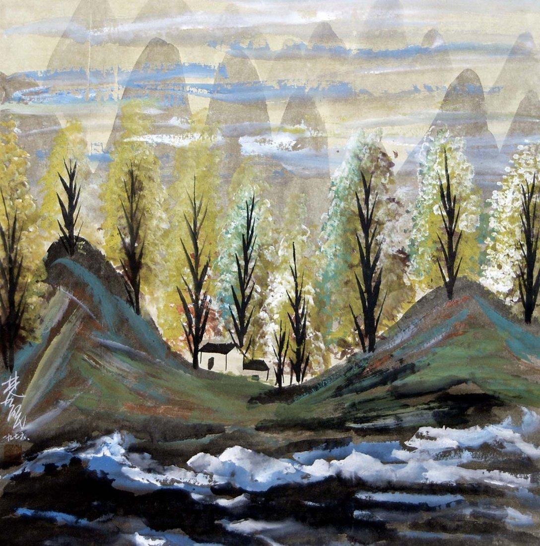 Lin Fengmian  Tree Ridges