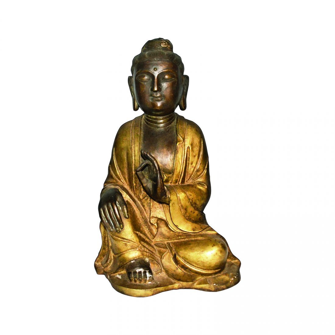 A Gilt Bronze Seated Guanyin