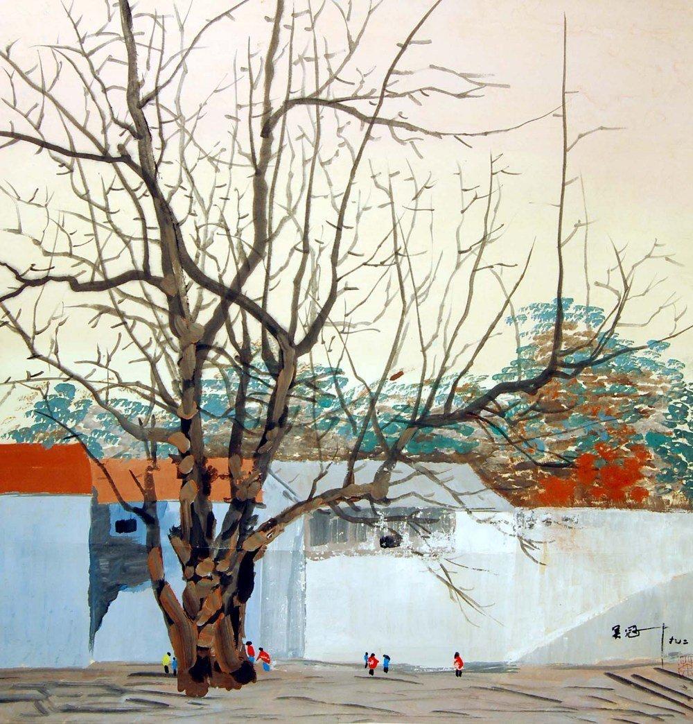 Wu Guanzhong Winter Scene