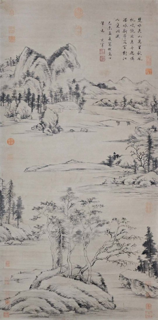 Dong Qichang  Ming Dynasty  Landscape of the Yangtze